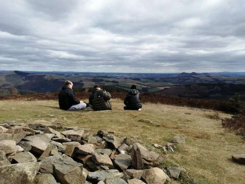 Stepping Stones activities at the Eildon Hills